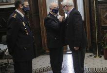 Ribó lliura la medalla al mèrit policial amb distintiu blau al cap superior de la policia nacional en la Comunitat Valenciana