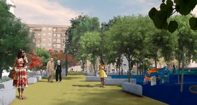 El nou jardí a l'avinguda de Joan XXIII avança amb l'adjudicació provisional de les obres