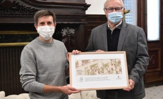 Ribó felicita el Nadal amb una targeta de l'artista valencià Paco Roca, Premi Nacional del Còmic