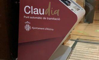 Alzira instala un nuevo Punto Automático de Tramitación, CLAUdia