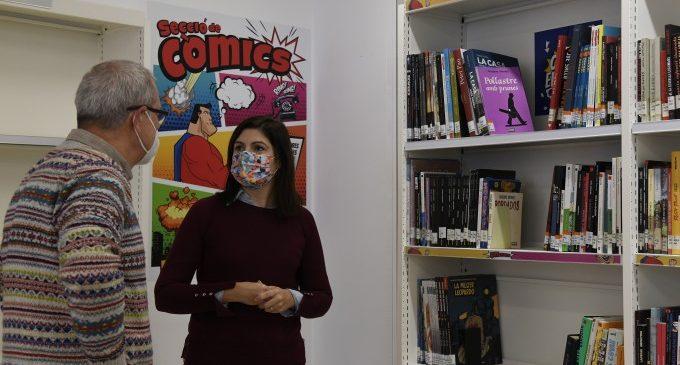 La Biblioteca de Paiporta habilita una nova secció de còmics per a joves i adolescents