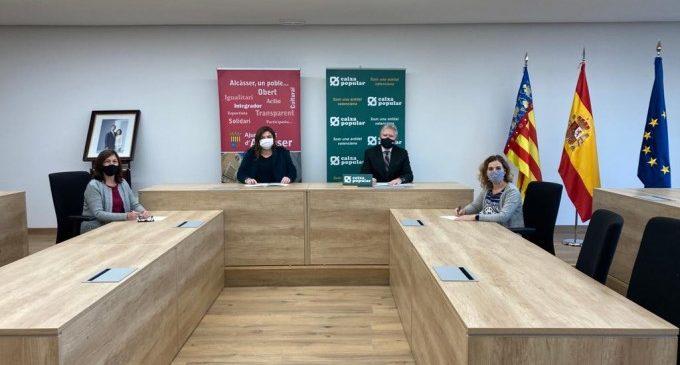 Alcàsser i Caixa Popular signen un conveni per a facilitar als emprenedors el finançament de nous projectes