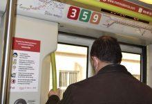 Ferrocarrils de la Generalitat Valenciana recomana viatjar en silenci per a disminuir el possible risc de contagi