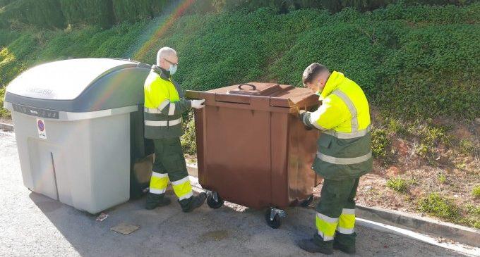 Paterna instal·la 26 contenidors marrons en Bovalar amb els quals reciclarà 328t de matèria orgànica a l'any