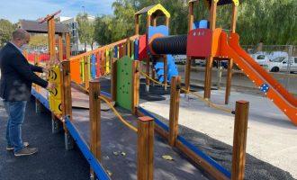 El Ayuntamiento de Massamagrell amplía la zona infantil en el paseo Juan Celda