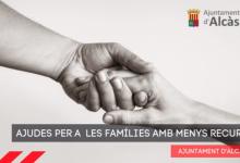 Alcàsser convoca ajudes per a les famílies amb menys recursos