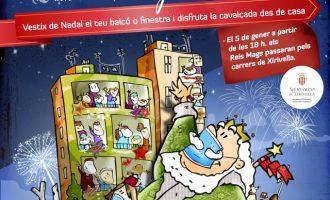 Xirivella llama a participar desde los balcones en la cabalgata de Reyes