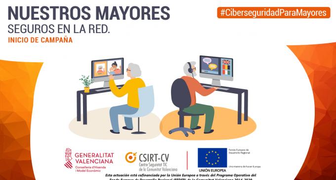 La Generalitat llança una campanya per a preservar la seguretat de les persones majors en Internet