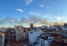 Un incendio en las cocheras de la EMT quema tres autobuses