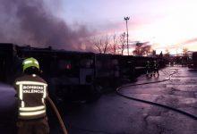 EMT ret homenatge a la plantilla que va col·laborar en l'extinció de l'incendi
