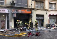 Mor un home en l'incendi d'un local comercial al centre de València