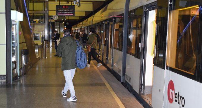 Metrovalencia incrementa el seu servei aquestes festes i estén l'horari habitual als dies laborables nadalencs