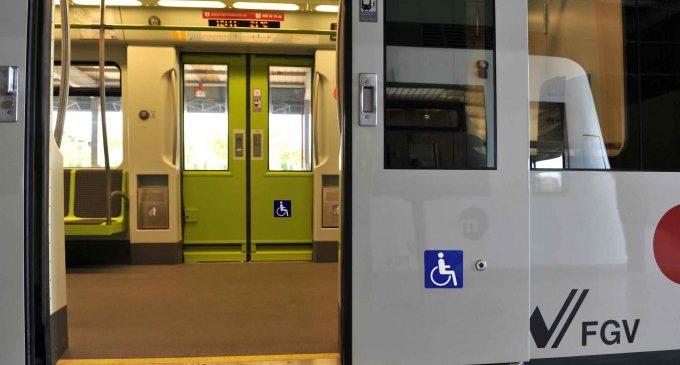La Generalitat completarà l'adaptació en matèria d'accessibilitat de les 62 unitats de metre que circulen per la xarxa de Metrovalencia