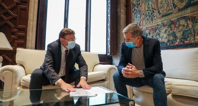 Puig i Cantó mantenen una reunió privada abans del debat els Pressupostos de la Generalitat