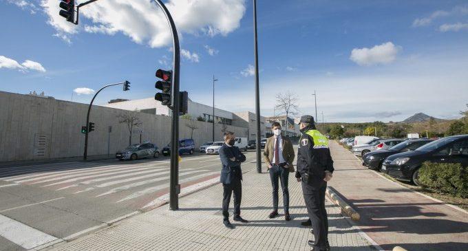 Gandia instal·la nous semàfors a l'Avinguda Blasco Ibáñez