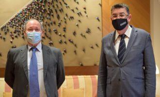 El President Morera y el Director de la Agencia Antifraude analizan los avances contra la corrupción y la recuperación del crédito reputacional de las instituciones valencianas
