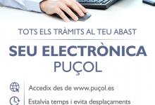 Amb la nova Seu Electrònica, l'Ajuntament de Puçol es troba a la teua disposició 24 hores al dia