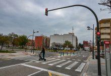 Movilidad Sostenible de València reduce los tiempos de espera de los peatones en los semáforos de la rotonda de Barraques del Figuero con Camino del Canal