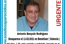 Es busca a un veí de Benetússer desaparegut des d'ahir