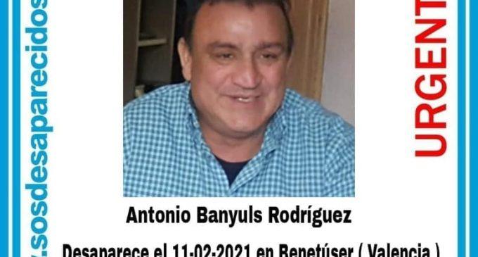 Se busca a un vecino de Benetússer desaparecido desde ayer