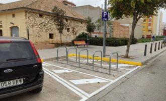 Sueca instal·la més de 40 aparcabicis nous en dotze punts diferents de la ciutat