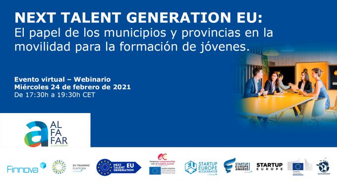 Alfafar impulsa l'esdeveniment Next Talent Generation EU