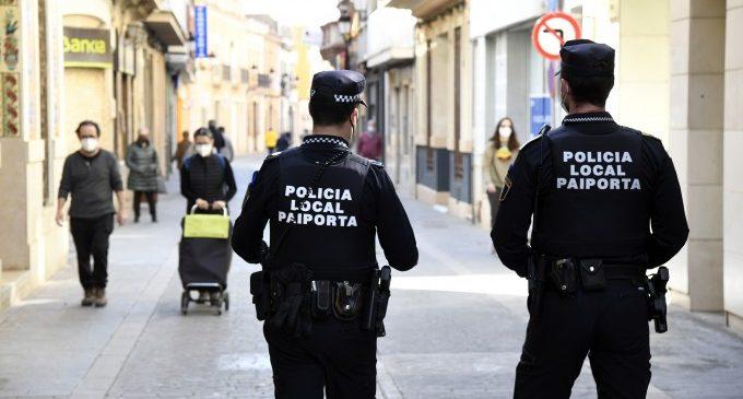 Policia Local intensifica el control i vigilància en el seguiment de les mesures anticovid entre la població paiportina