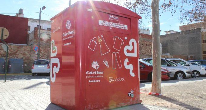 Almàssera comptabilitza un total de 20.544 kg obtinguts de residu tèxtil en els contenidors locals
