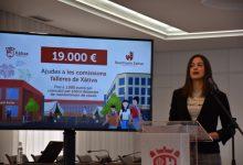 Xàtiva recolza a les Falles amb ajudes directes a les comissions i al sector