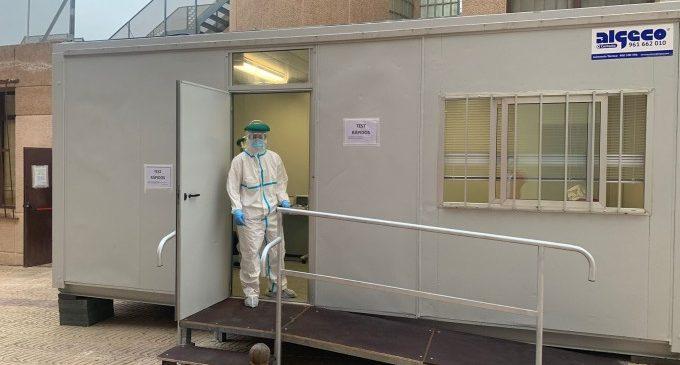 Paterna instal·la en el Centre de Salut Clot de Joan un mòdul portàtil per a proves ràpides de detecció de la COVID-19