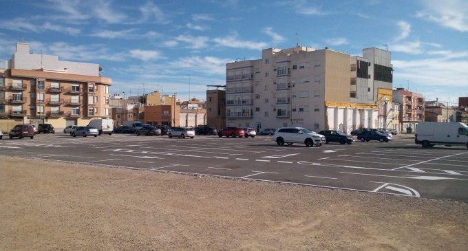 Sueca amplia la capacitat del pàrquing de l'avinguda del Mestre Serrano en fer treballs de condicionament i reordenació