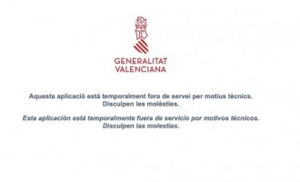 La pàgina web de la Generalitat deixa de funcionar poc després de que s'haja obert la sol·licitut del Pla Resisteix