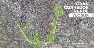 """Sandra Gómez anuncia el Gran Corredor Verd, un pla que farà que el sud de la ciutat """"siga una nova façana"""" de València"""