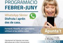 Catarroja renova la programació de WhatsApp Sènior, l'oferta de formació telemàtica per a les persones majors del poble