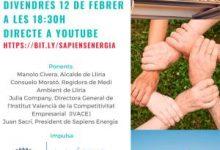 Llíria promou la primera comunitat energètica local de la comarca del Camp de Túria i una de les primeres d'Espanya, al costat de Sapiens Energia