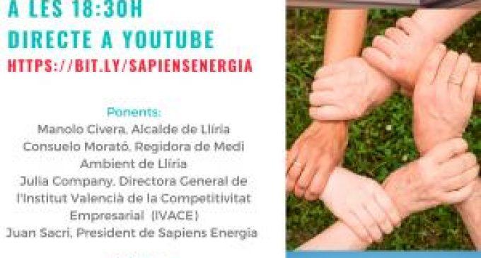 Llíria promueve la primera comunidad energética local de la comarca del Camp de Túria y una de las primeras de España, junto a Sapiens Energía