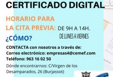 Burjassot ha emés 8.500 certificats digitals