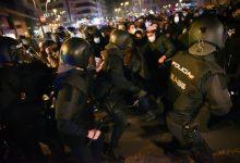 Nou detinguts i un ferit en la segona jornada de protestes a València per l'empresonament d'Hasél