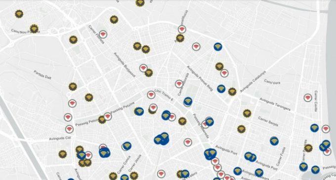 València duplica els punts de la xarxa gratuïta d'alta velocitat
