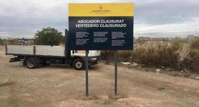 València retira més de 2.000 tones de residus d'abocadors irregulars en 2020
