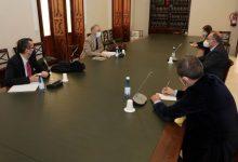 Joan Calabuig y Jorge Alarte abordan con representantes del Ministerio de Asuntos Exteriores el plan de ampliación de la base de la ONU en Quart de Poblet