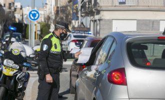 La Policía Local de Gandia sanciona a 113 personas por incumplir el cierre perimetral durante el último fin de semana del dispositivo