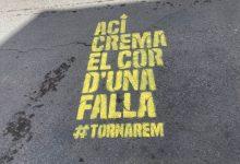 'Ací crema el cor d'una falla': el missatge que arriba a tota València