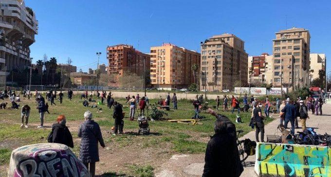 """Vecinos de Benimaclet plantan 120 árboles en los terrenos del PAI para """"reivindicar zonas verdes reales"""""""