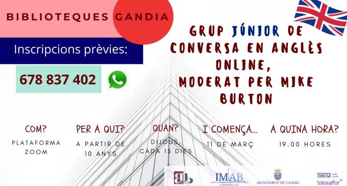 Les biblioteques de Gandia organitzen grups de conversa en anglés