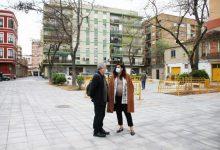 Finalitzen les obres de reurbanització de la plaça Calabuig al Cabanyal-Canyamelar