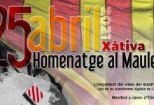 Xàtiva commemorarà el 25 d'abril amb un manifest digital i la tradicional ofrena floral a la pedra dels Maulets