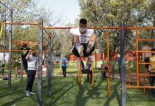 Mislata reforça la seua oferta esportiva a l'aire lliure amb l'ampliació del parc de 'street workout'