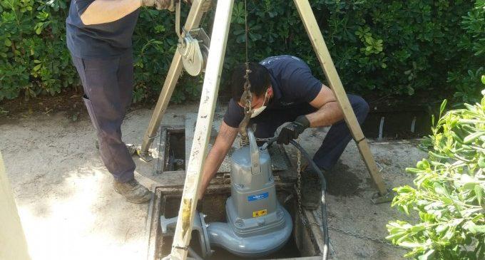 Paterna millora l'estació de bombament d'aigües residuals del barri Mas de Rosari