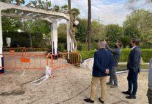 Xàtiva repararà una pèrgola dels Jardins del Palasiet afectada per aluminosi